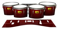 Pearl Championship Maple Tenor Drum Slips (Old) - Apple Maple Fade (Red)