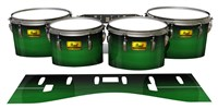 Pearl Championship Maple Tenor Drum Slips (Old) - Asparagus Stain Fade (Green)