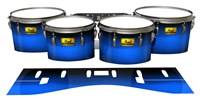 Pearl Championship Maple Tenor Drum Slips (Old) - Azure Stain Fade (Blue)