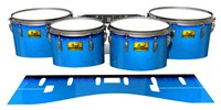 Pearl Championship Maple Tenor Drum Slips (Old) - Bermuda Blue (Blue)