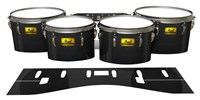 Pearl Championship Maple Tenor Drum Slips (Old) - Black Stain (Neutral)