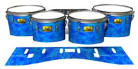 Pearl Championship Maple Tenor Drum Slips (Old) - Blue Cosmic Glass (Blue)