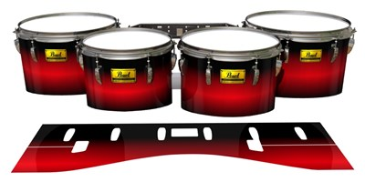 Pearl Championship Maple Tenor Drum Slips (Old) - Red Line Red (Red)