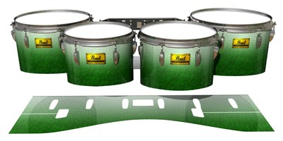 Pearl Championship Maple Tenor Drum Slips (Old) - Snowy Evergreen (Green)