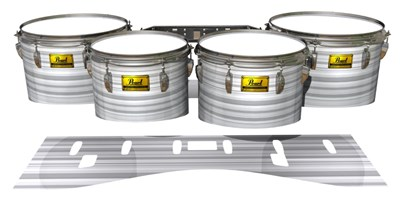 Pearl Championship Maple Tenor Drum Slips (Old) - White Horizon Stripes (Neutral)