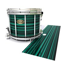 Tama Marching Snare Drum Slip - Aqua Horizon Stripes (Aqua)