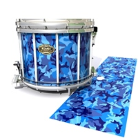 Tama Marching Snare Drum Slip - Blue Wing Traditional Camouflage (Blue)