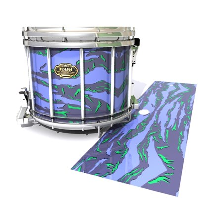 Tama Marching Snare Drum Slip - Electric Tiger Camouflage (Purple)