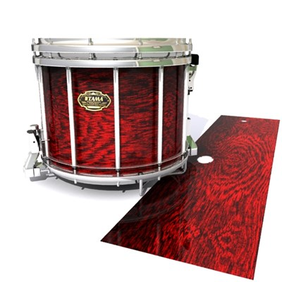 Tama Marching Snare Drum Slip - Rosy Red Rosewood (Red)