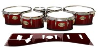Tama Marching Tenor Drum Slips - Apple Maple Fade (Red)
