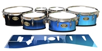 Tama Marching Tenor Drum Slips - Blue Light Rays (Themed)