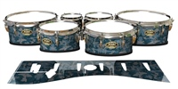 Tama Marching Tenor Drum Slips - Blue Slate Traditional Camouflage (Blue)