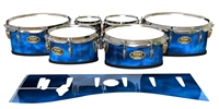 Tama Marching Tenor Drum Slips - Blue Smokey Clouds (Themed)