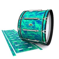 Yamaha 8200 Field Corps Bass Drum Slip - Aqua Cosmic Glass (Aqua)