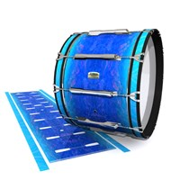 Yamaha 8200 Field Corps Bass Drum Slip - Aquatic Blue Fade (Blue)