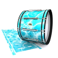 Yamaha 8200 Field Corps Bass Drum Slip - Aquatic Refraction (Themed)