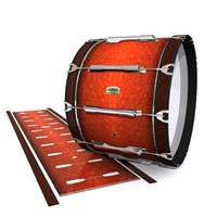 Yamaha 8200 Field Corps Bass Drum Slip - Autumn Fade (Orange)