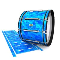 Yamaha 8200 Field Corps Bass Drum Slip - Blue Cosmic Glass (Blue)