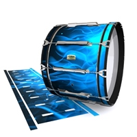 Yamaha 8200 Field Corps Bass Drum Slip - Blue Flames (Themed)