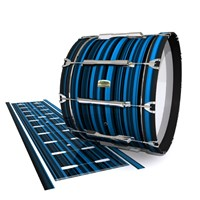 Yamaha 8200 Field Corps Bass Drum Slip - Blue Horizon Stripes (Blue)