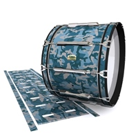 Yamaha 8200 Field Corps Bass Drum Slip - Blue Slate Traditional Camouflage (Blue)
