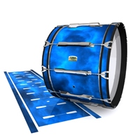 Yamaha 8200 Field Corps Bass Drum Slip - Blue Smokey Clouds (Themed)
