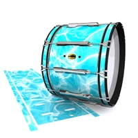 Yamaha 8300 Field Corps Bass Drum Slip - Aquatic Refraction (Themed)