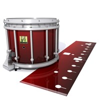 Yamaha 9200 Field Corps Snare Drum Slip - Apple Maple Fade (Red)