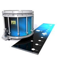 Yamaha 9200 Field Corps Snare Drum Slip - Blue Light Rays (Themed)