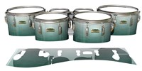 Yamaha 8200 Field Corps Tenor Drum Slips - Alpine Fade (Green)