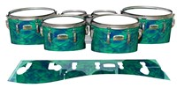 Yamaha 8200 Field Corps Tenor Drum Slips - Aqua Cosmic Glass (Aqua)