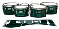 Yamaha 8200 Field Corps Tenor Drum Slips - Aqua Horizon Stripes (Aqua)
