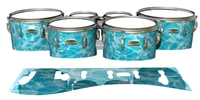 Yamaha 8200 Field Corps Tenor Drum Slips - Aquatic Refraction (Themed)