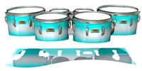 Yamaha 8200 Field Corps Tenor Drum Slips - Aqua Wake (Aqua)