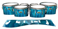 Yamaha 8200 Field Corps Tenor Drum Slips - Blue Feathers (Themed)