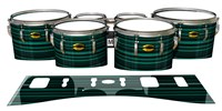 Yamaha 8300 Field Corps Tenor Drum Slips - Aqua Horizon Stripes (Aqua)