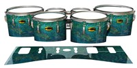 Yamaha 8300 Field Corps Tenor Drum Slips - Aquamarine Blue Pearl (Aqua)