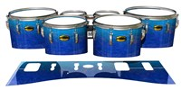 Yamaha 8300 Field Corps Tenor Drum Slips - Aquatic Blue Fade (Blue)