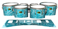 Yamaha 8300 Field Corps Tenor Drum Slips - Aquatic Refraction (Themed)