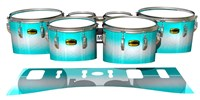 Yamaha 8300 Field Corps Tenor Drum Slips - Aqua Wake (Aqua)