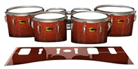 Yamaha 8300 Field Corps Tenor Drum Slips - Autumn Fade (Orange)