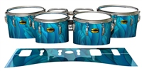 Yamaha 8300 Field Corps Tenor Drum Slips - Blue Feathers (Themed)