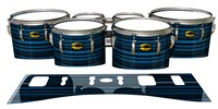 Yamaha 8300 Field Corps Tenor Drum Slips - Blue Horizon Stripes (Blue)