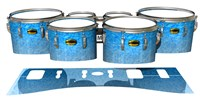 Yamaha 8300 Field Corps Tenor Drum Slips - Blue Ice (Blue)