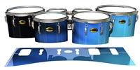 Yamaha 8300 Field Corps Tenor Drum Slips - Blue Light Rays (Themed)