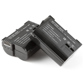 2 Pack Battery Nikon EN-EL15 ENEL15 D7000 Decoded