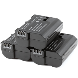 3 Pack Battery Nikon EN-EL15 ENEL15 D7000 Decoded