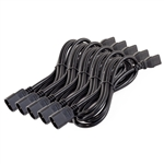 5-Pack 6ft 2m PDU C13 Female C14 Male Cable 16AWG
