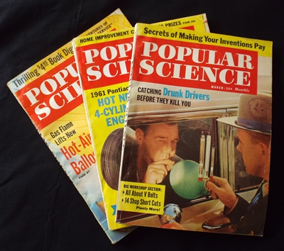 Vintage 1960's Popular Science Magazines (3) - Sold