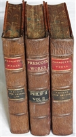 William H Prescott's 1873-1874 3 vol History of the Reign of Philip the Second